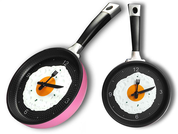 Fried Egg Novelty Hanging Kitchen Cafe Wall Clock