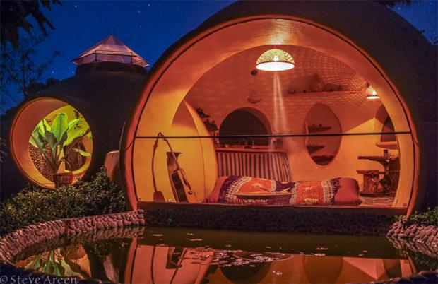 Dome Home Backyard