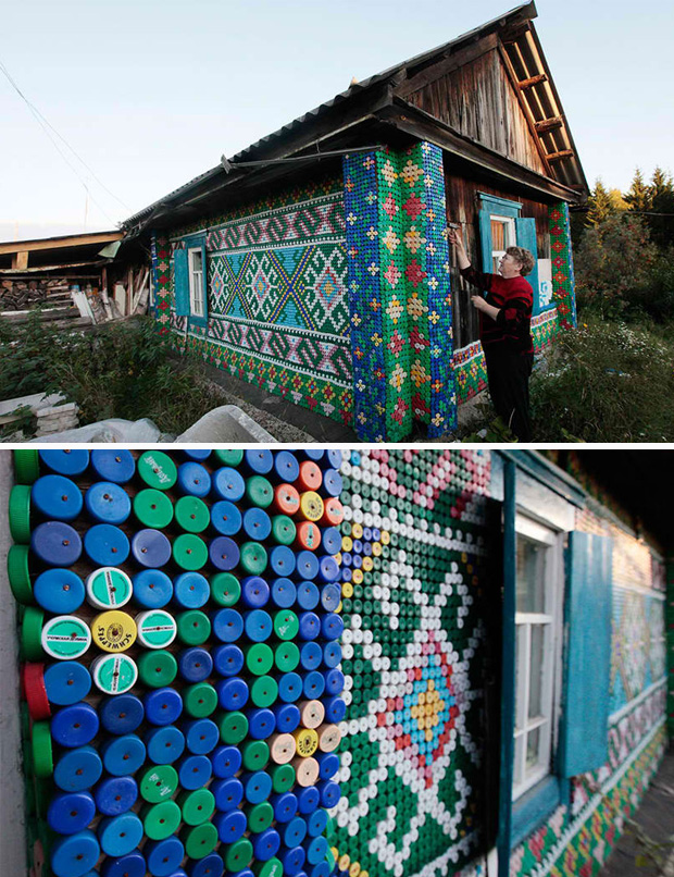 30,000 bottle caps House