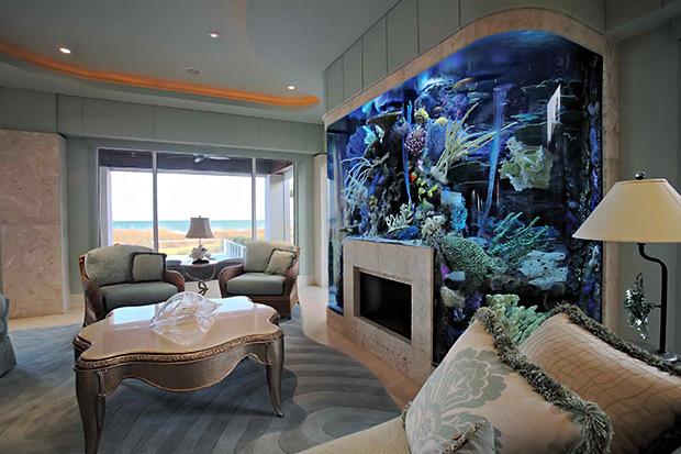 Fireplace Aquarium from Seavisions