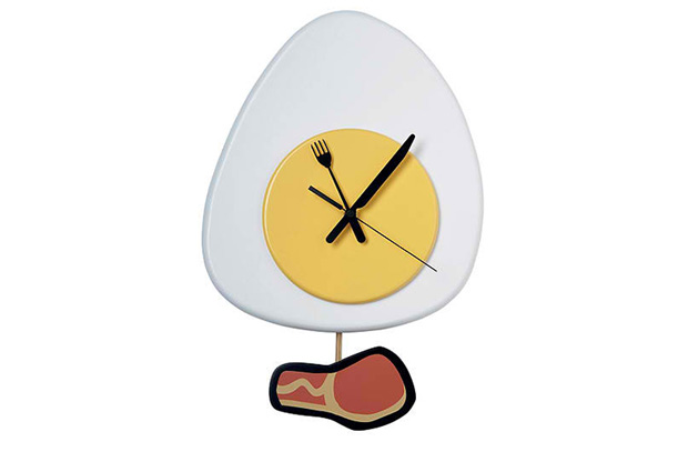 Novelty Kitchen Wall Clock Egg and Bacon