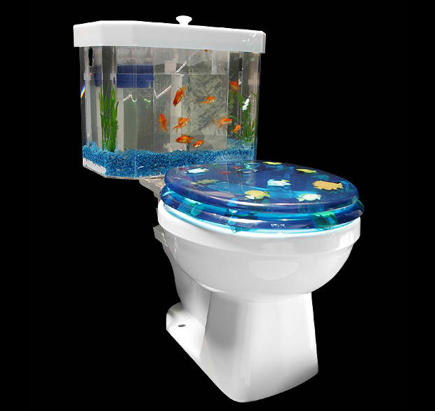 Fish 'N Flush Toilet Aquarium