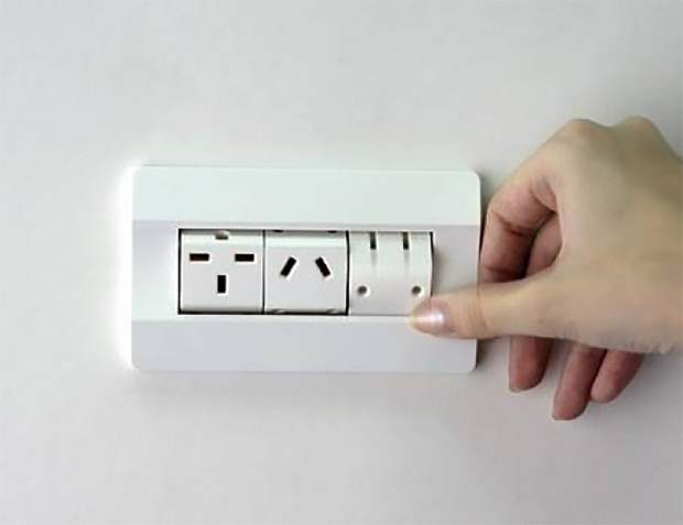 rotating socket outlet