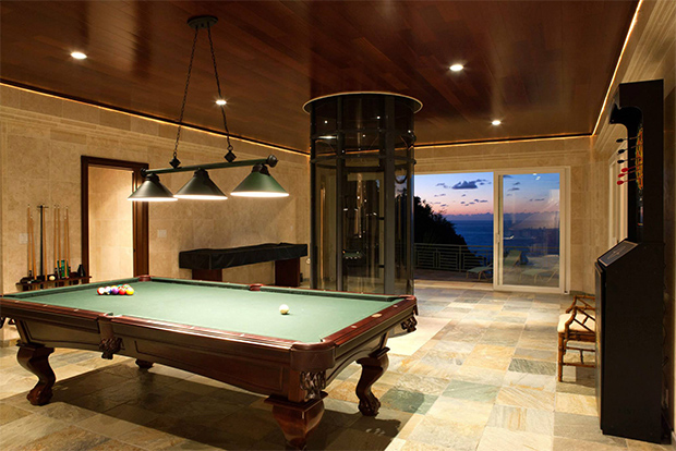 water falling state game room