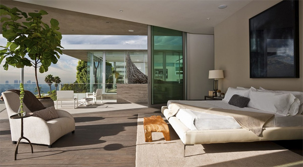 Hollywood Hills Bedroom View