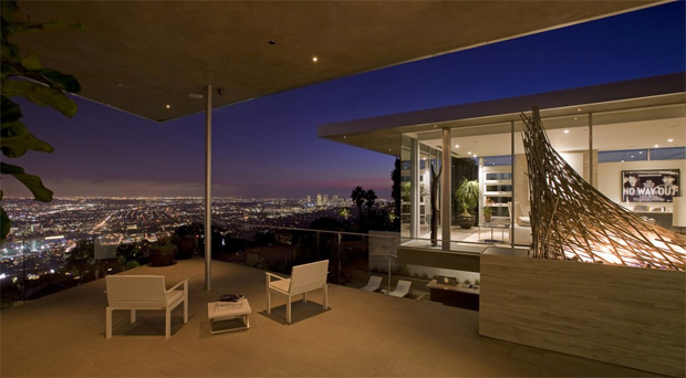 Hollywood Hills Skyline View