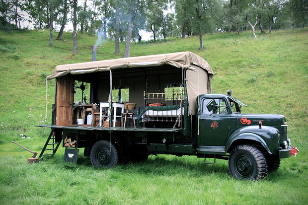 Old Fire Service Truck Hotel