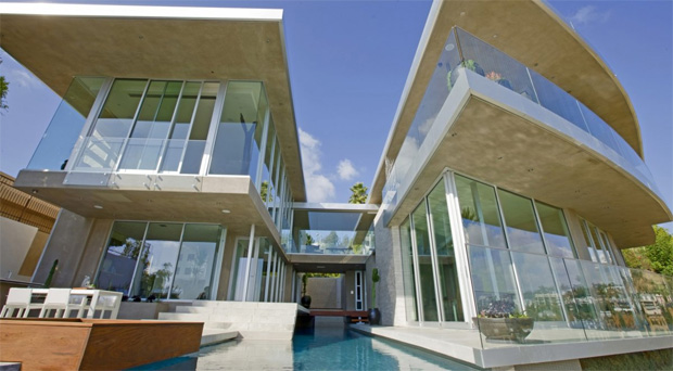 Hollywood Hills Glass Panels