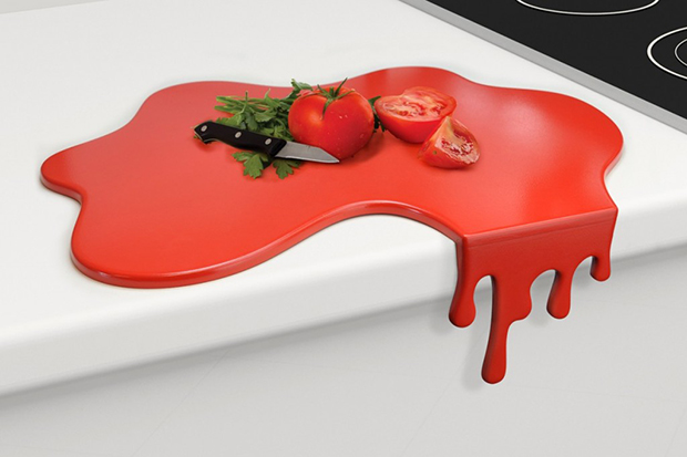 Splash Red Chopping Board