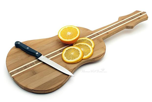 Guitar wooden chopping board