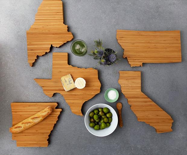 State Shaped Chopping Board
