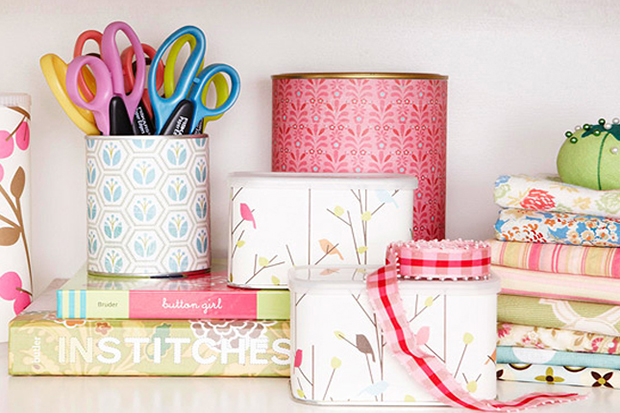 home organisation hacks: Upcycle Cans and Tins