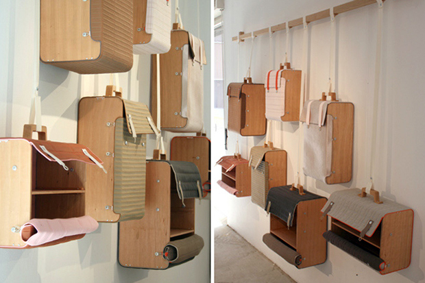 hanging suitcases