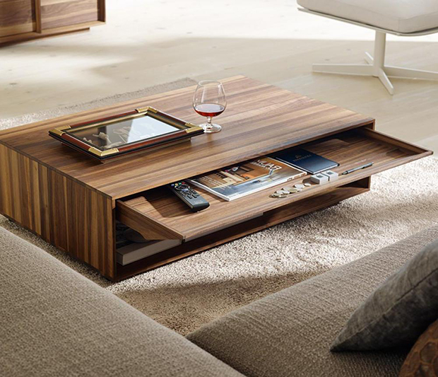 hidden storage of your coffee table