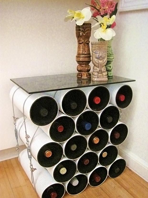 DIY Pipe Wine Storage Table