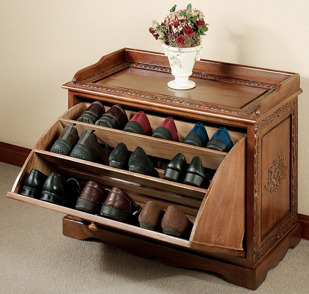 hidden shoe storage