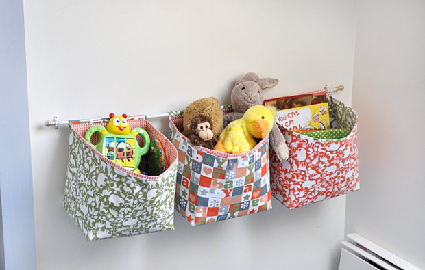 hanging fabric toy storage