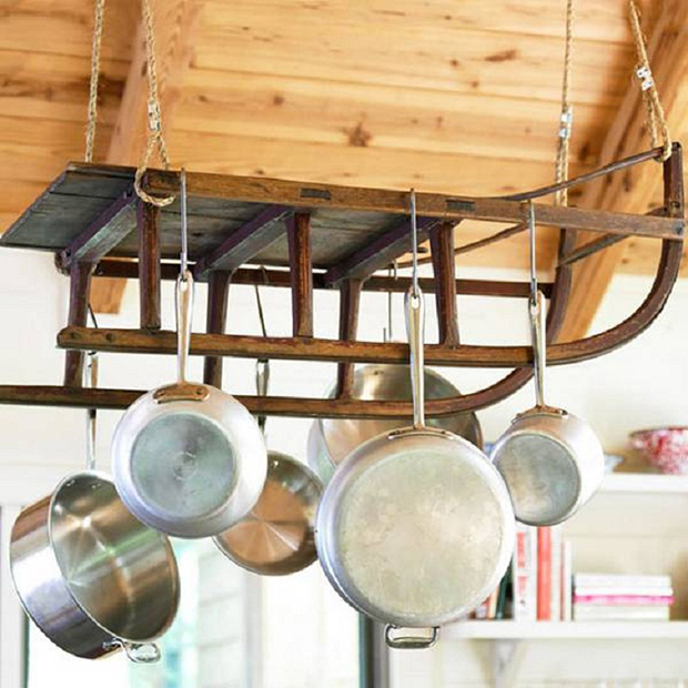 hang pots from the ceiling