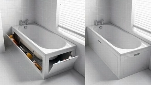 bath tub hidden storage