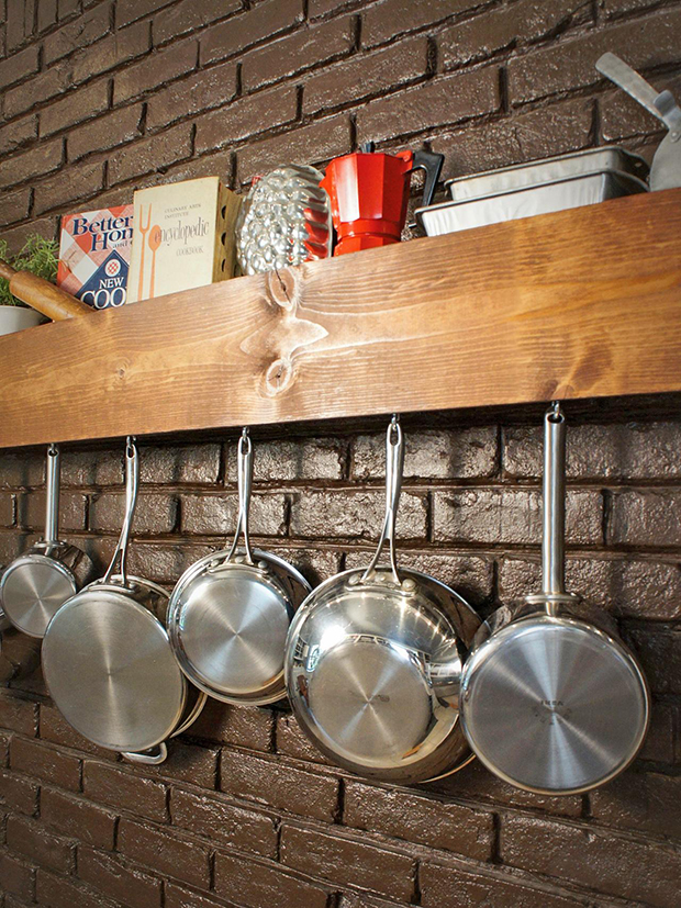 DIY shelf and pot storage