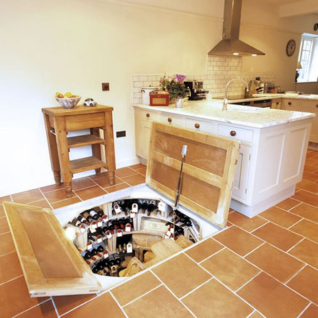 wine storage under the floor