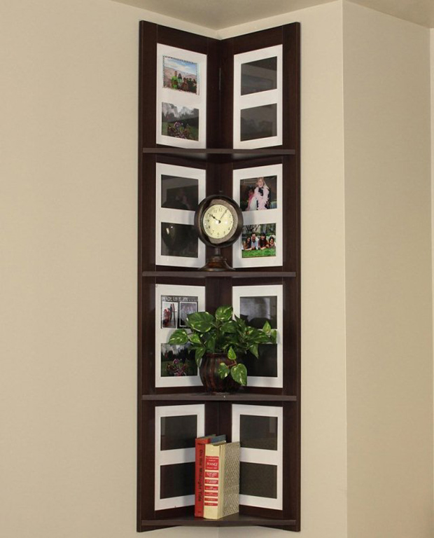 Wall Picture Frames boring walls? why not gather wall frames on the corner! - viral homes