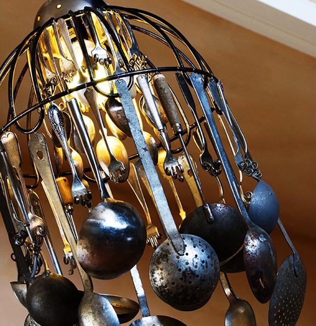 Flatwear chandelier