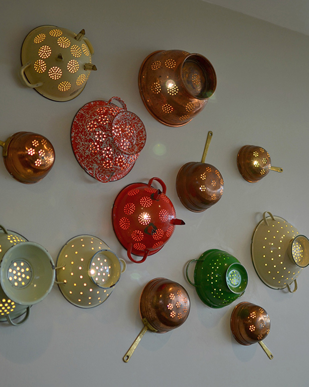 colander wall lights