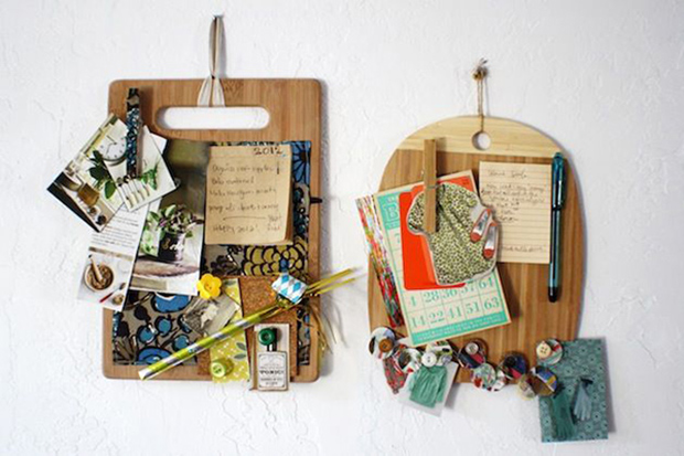 cutting boards as organizers