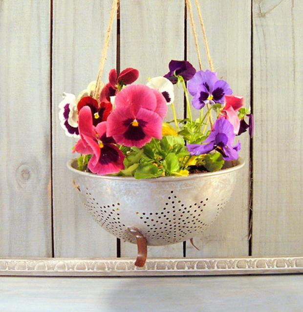 Colander Flower Pot