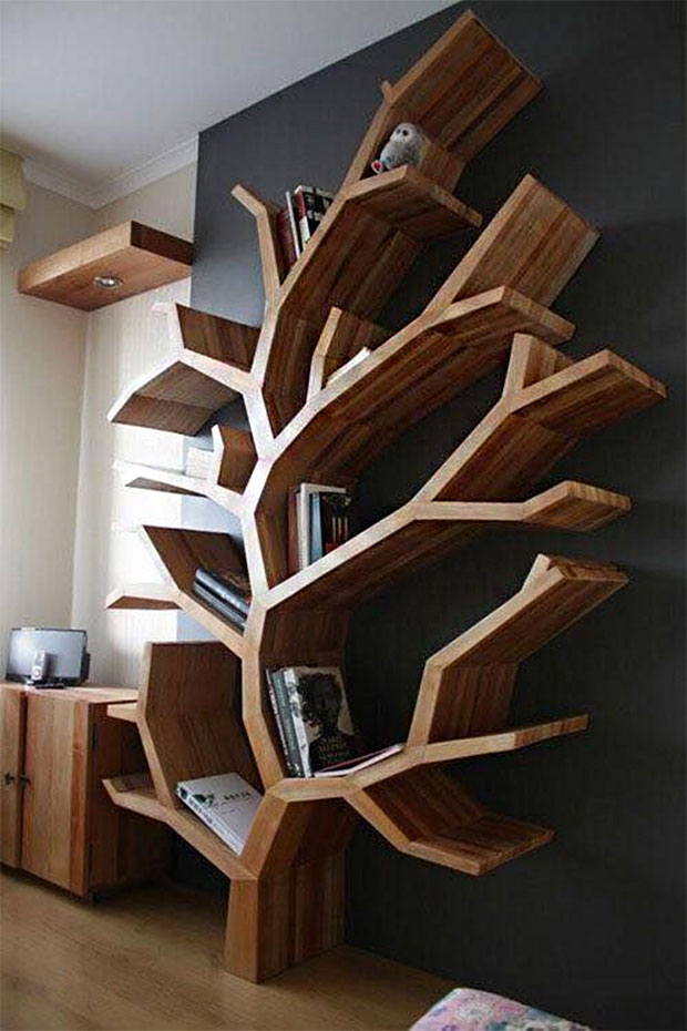 Tree Wooden Bookshelf