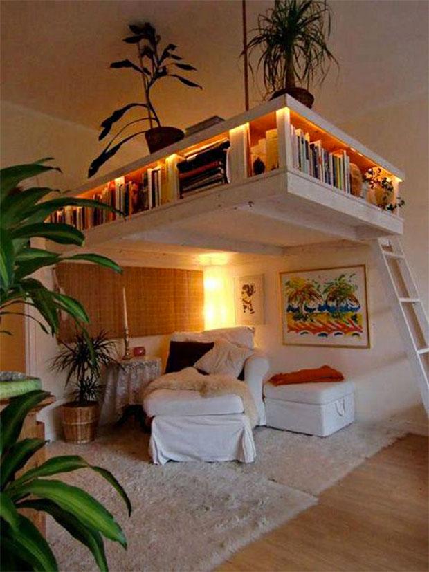 Mezzanine Book Shelf