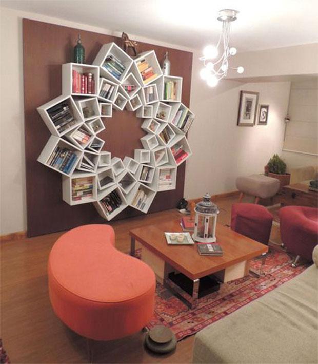 Floral Bookshelf