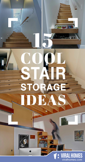 Cool Stair Storage Ideas To Organize Your Home