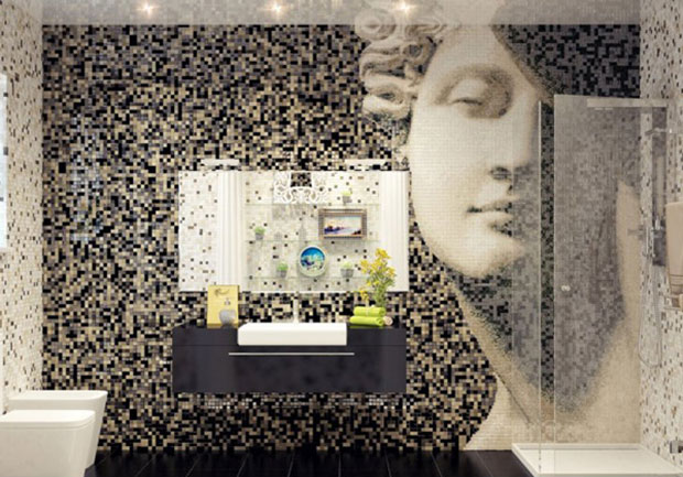 Mosaic Tile Bath