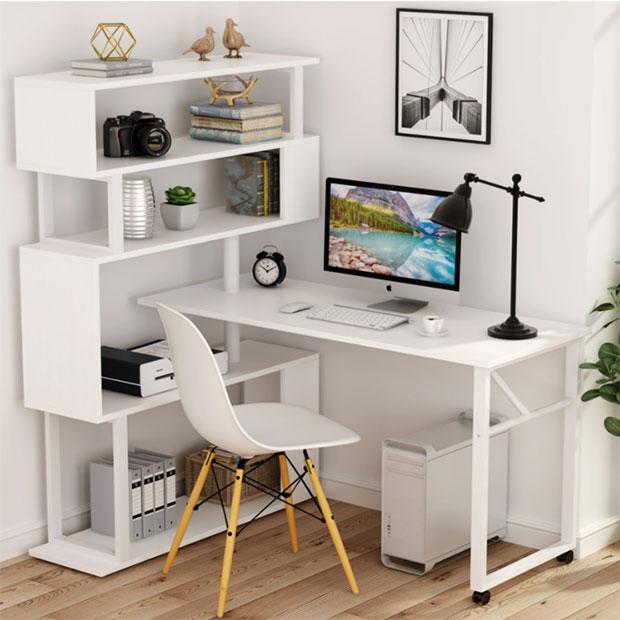 L-Shaped Rotating Desk