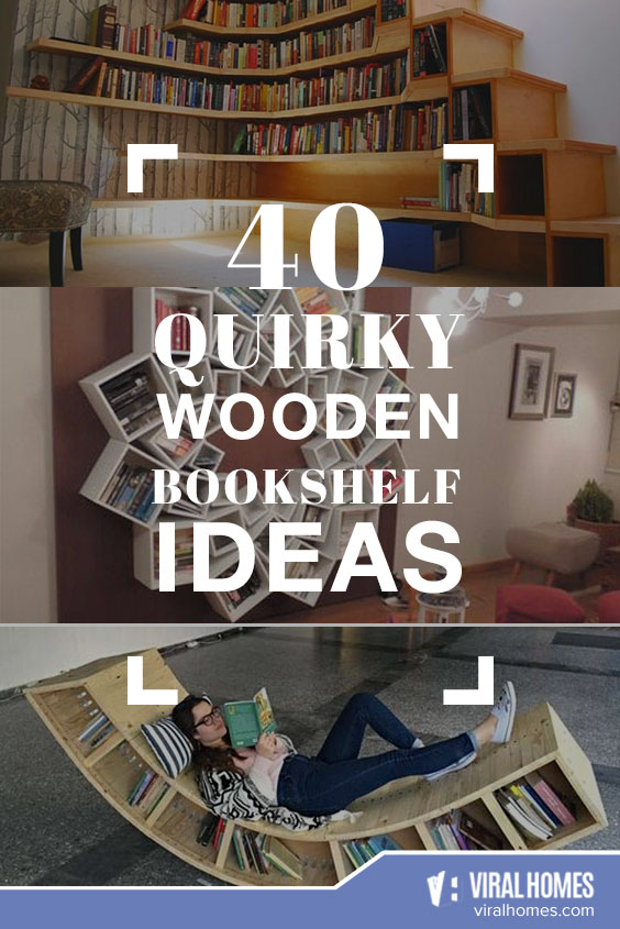 Quirky Wooden Bookshelves Ideas for the Bookworm