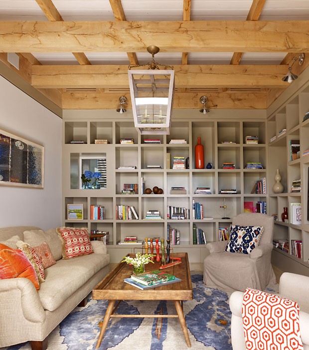Modern Summer House Home Library Design Ideas