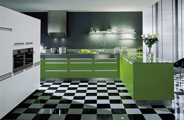 Green Modern Kitchen
