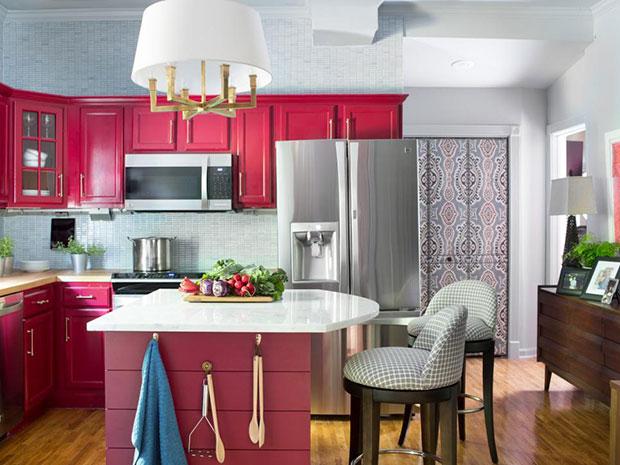 Rich Red Kitchen