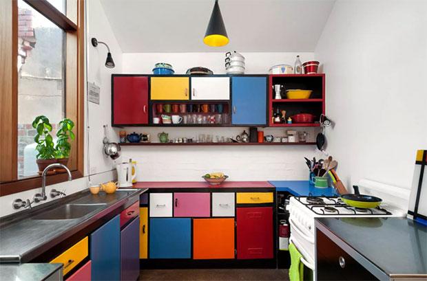 Multi-Colored Kitchen