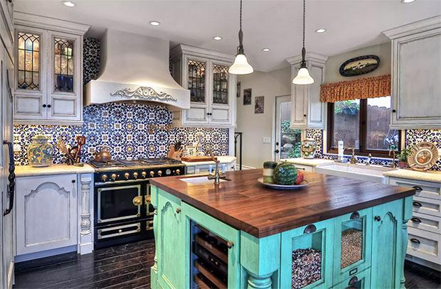 Spanish Tiled Kitchen