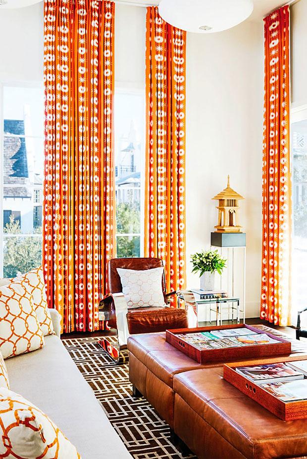 Vibrant Living Room Curtain Ideas