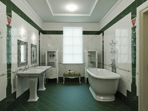 Green Pillared Room