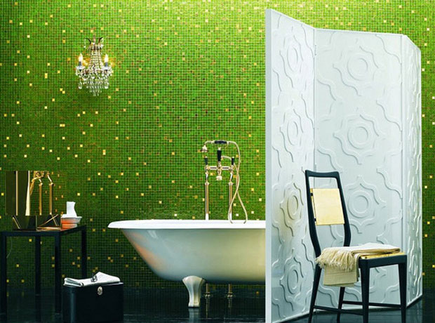 Green and Gold Bath