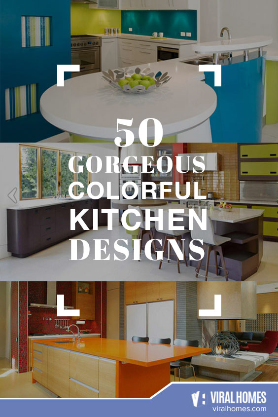 50 Colorful Kitchen Designs to Add Color to Your Cooking