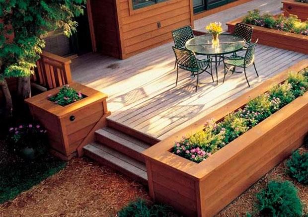 Built-In Flower Beds