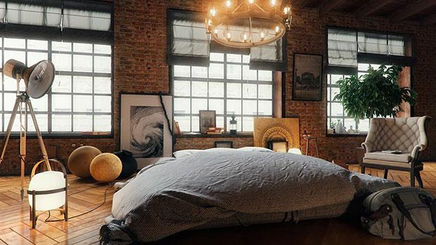 Alek Loft Bedroom