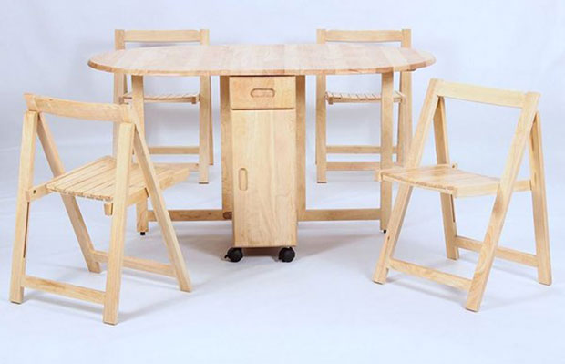HGG Drop Leaf Dining Set