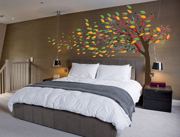 Wind Blowing Wall Decals Design